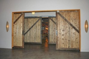 Large sliding restaurant doors