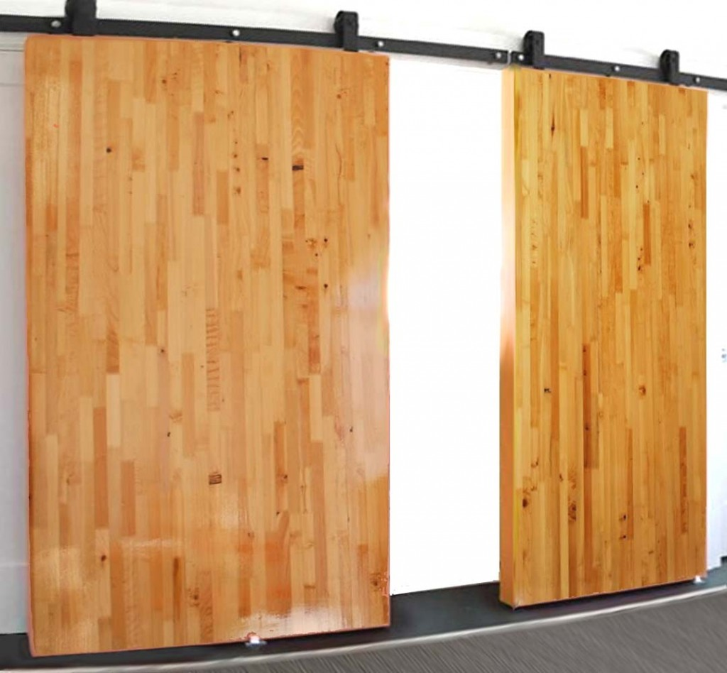 Large Oversize Lightweight High-Strength Sliding Butcher Block Barn Doors