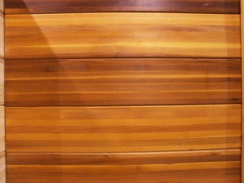Large Sliding Wood Plank Door