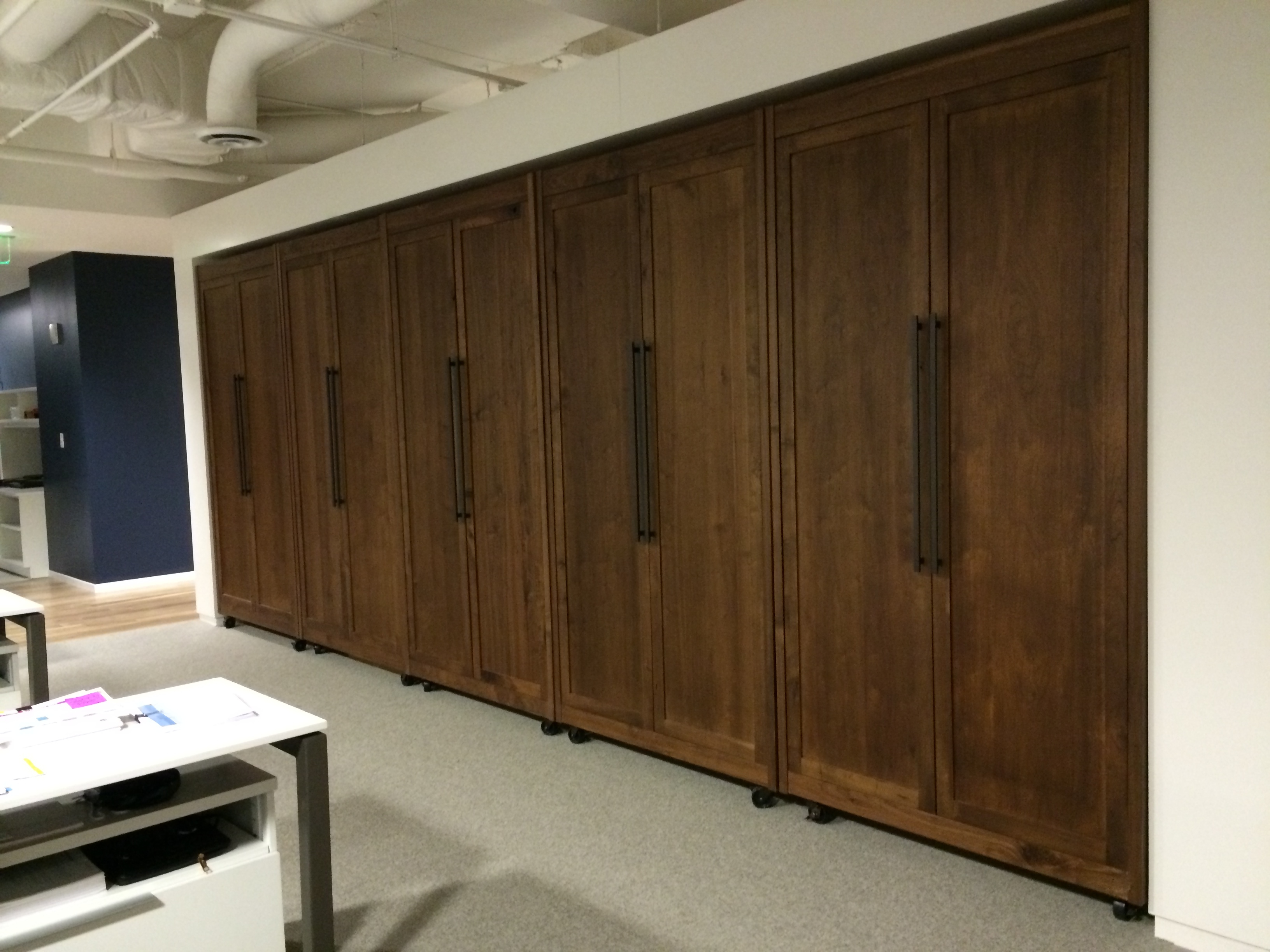 Large Sliding Wood Door Dividers