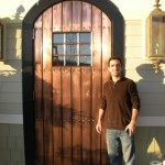 Copper doors available in large sliding door