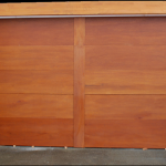 Large Sliding Wood Multi-Panel Door