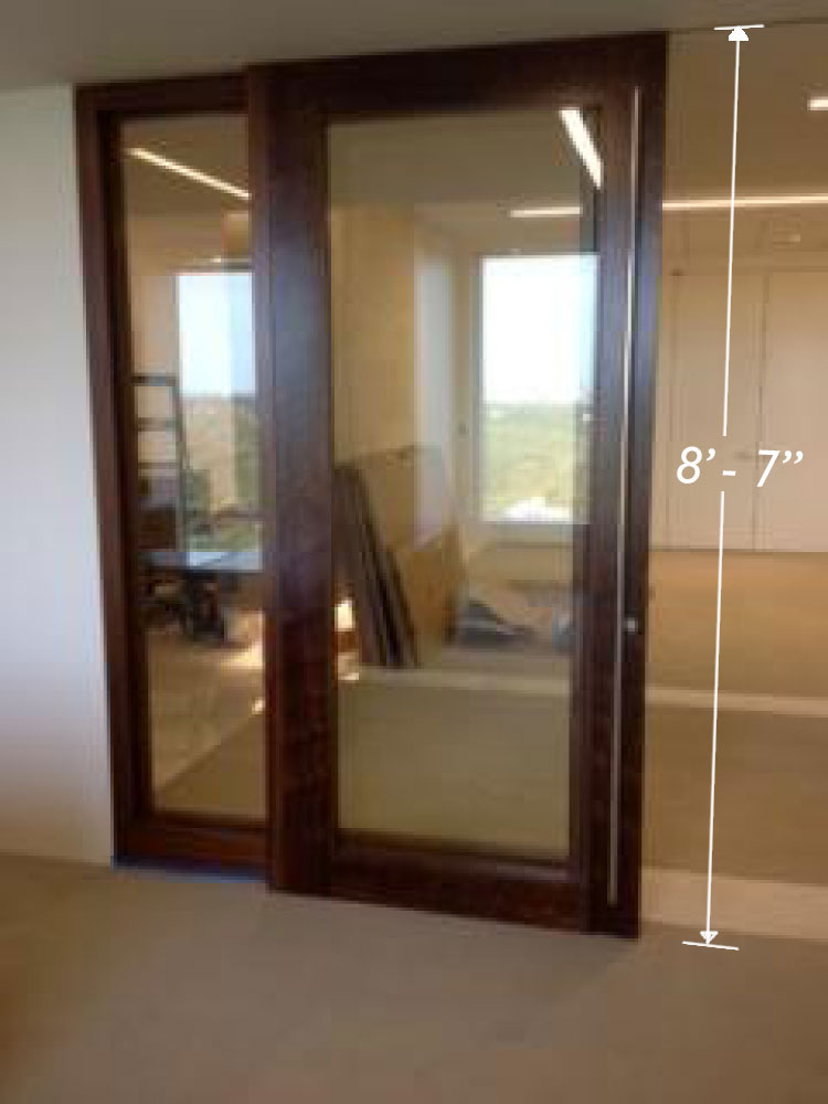 Large sliding door commercial application