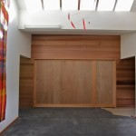 Large Sliding Wood Doors at University Office