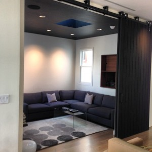 Elegant large sliding door