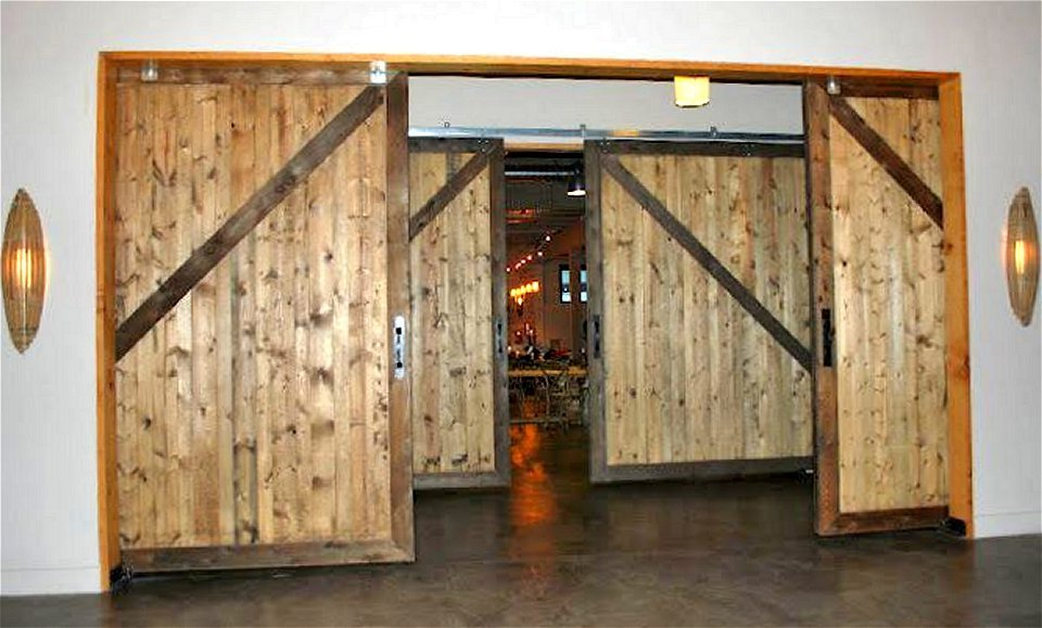 Large Lightweight Sliding Barn Doors
