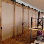 Large Room Divider Wooden Sliding Doors