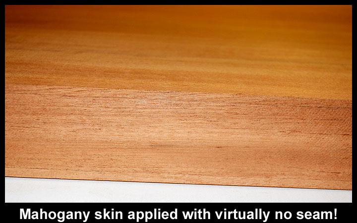 Large Mahogany Skin Applied with virtually no skin