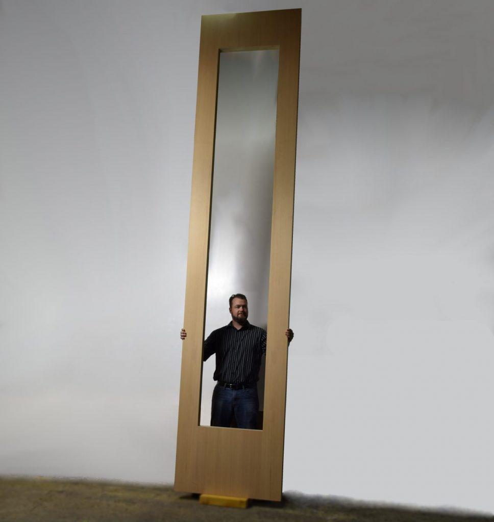 Large Sliding Glass Wood Door