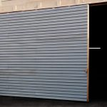 Large Sliding Rolled Metal Door