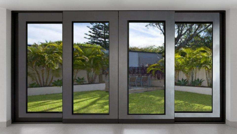 Large Sliding Metal Glass Doors
