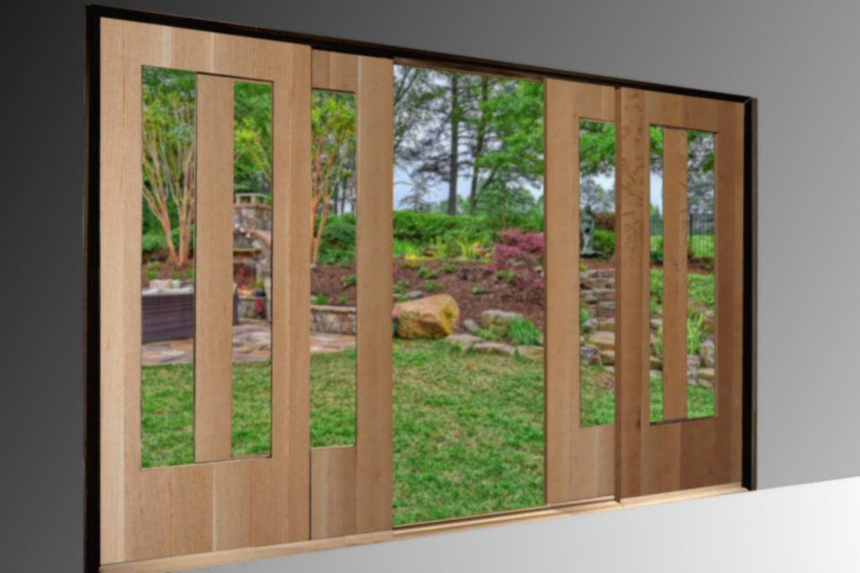Large Sliding Glass Wood Doors