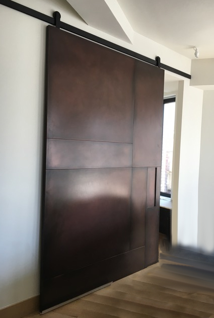 Large Sliding Copper Barn Door